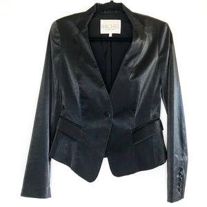 Rachel Rachel Roy Shimmer Black Blazer Size 6
